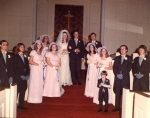 Larry and Kathryn Stine's Wedding 1972 - BHS Grads 68 Tim Chamberlain and Randy Moody; BHS Grads 69 Kathryn Stokely Sti