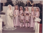 Steel Magnolias, Phyllis Houston Teel with Brides Maids Gay Fleming, Delaine Wheeler, Alice Holley, Peggy Moon and Ellen