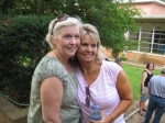 Phyllis & Bonnie in the Senior Courtyard--Just like ole times!