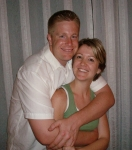 My son Brandon and his wife Kari.  They have been married for 5 years.